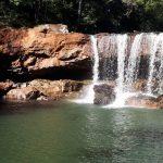 Queda de rocha altera cenário de cachoeira em Esperança do Sul