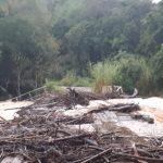 Vídeo – Cheia no rio Turvo deixa ponte submersa entre Três Passos e Tenente Portela