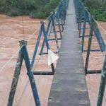 Vídeo – Imagens da cheia do rio Turvo a partir da ponte pênsil em Três Passos