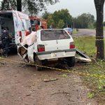 Veículo de Miraguaí se envolve em acidente com morte na ERS-569