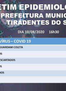 Boletim epidemiológico da covid-19 de Tiradentes do Sul