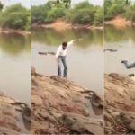 Vídeo – Candidato cai em rio durante propaganda eleitoral