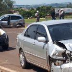 Acidente envolve dois veículos no trevo da saída para Padre Gonzales, na BR-468